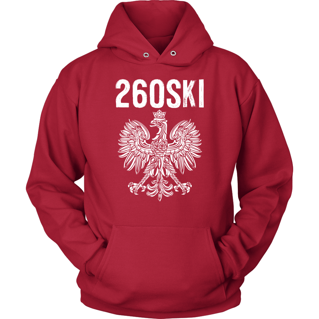 Indiana Polish Pride - 260 Area Code - Unisex Hoodie / Red / S - Polish Shirt Store