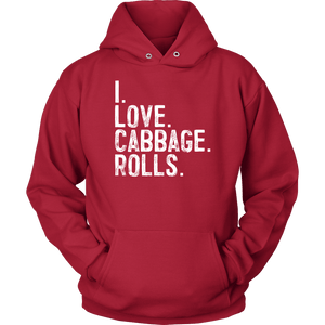 I Love Cabbage Rolls - Unisex Hoodie / Red / S - Polish Shirt Store