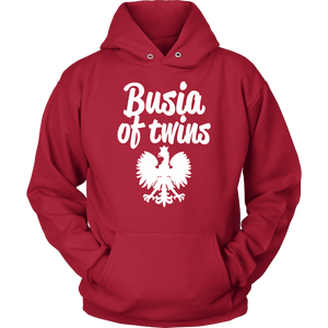 Busia of Twins Gift - Unisex Hoodie / Red / S - Polish Shirt Store