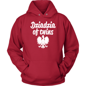 Dziadzia of Twins Gift - Unisex Hoodie / Red / S - Polish Shirt Store