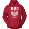 804SKI Virginia Polish Pride - Unisex Hoodie / Red / S - Polish Shirt Store