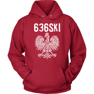 636SKI Missouri Polish Pride - Unisex Hoodie / Red / S - Polish Shirt Store