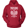 765SKI Indiana Polish Pride - Unisex Hoodie / Red / S - Polish Shirt Store