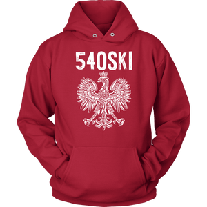 540SKI Virginia Polish Pride - Unisex Hoodie / Red / S - Polish Shirt Store