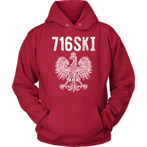 Buffalo NY - 716 Area Code - 716SKI - Unisex Hoodie / Red / S - Polish Shirt Store