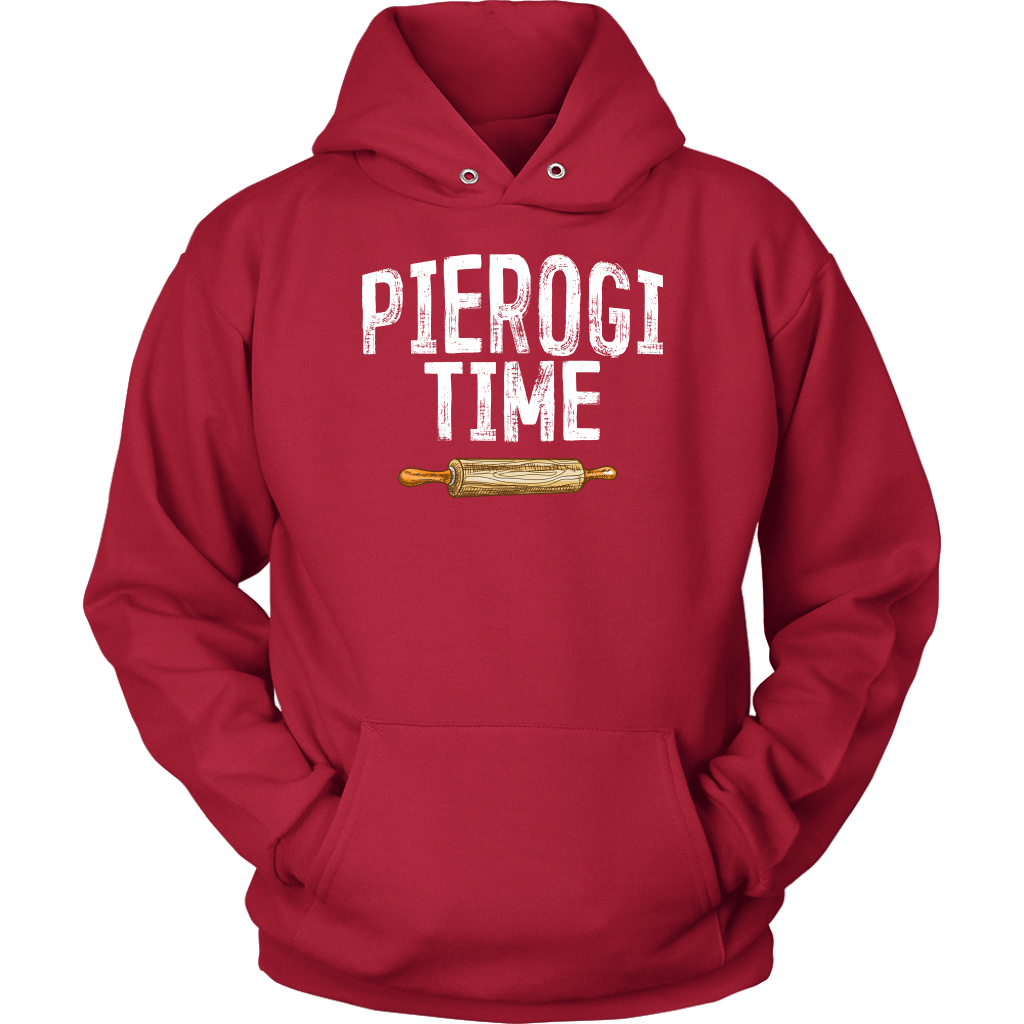 Pierogi Time T-Shirt - Unisex Hoodie / Red / S - Polish Shirt Store