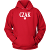 Polish Surname Ending in CZAK - Unisex Hoodie / Red / S - Polish Shirt Store
