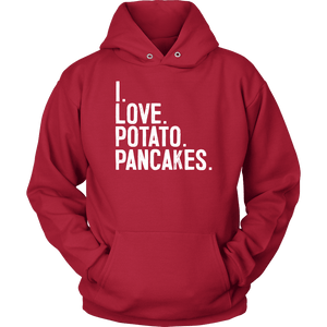 I Love Potato Pancakes - Unisex Hoodie / Red / S - Polish Shirt Store