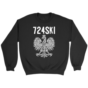 724SKI Pennsylvania Polish Pride - Crewneck Sweatshirt / Black / S - Polish Shirt Store