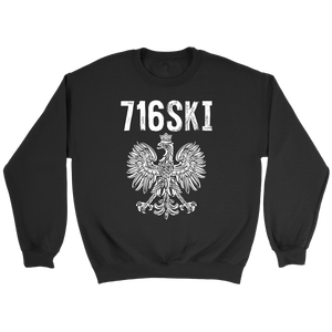 Buffalo NY - 716 Area Code - 716SKI - Crewneck Sweatshirt / Black / S - Polish Shirt Store