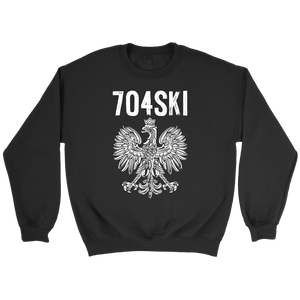 704SKI North Carolina Polish Pride - Crewneck Sweatshirt / Black / S - Polish Shirt Store