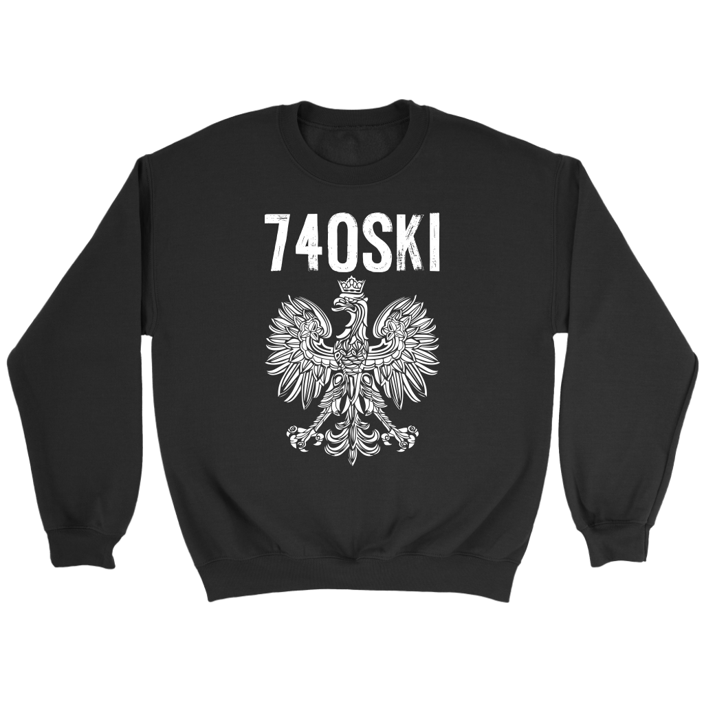 Newark Ohio - 740 Area Code - Crewneck Sweatshirt / Black / S - Polish Shirt Store