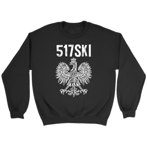 517SKI Michigan Polish Pride - Crewneck Sweatshirt / Black / S - Polish Shirt Store