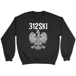 312SKI Illinois Polish Proud - Crewneck Sweatshirt / Black / S - Polish Shirt Store