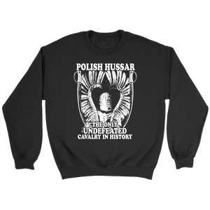 Polish Hussar - Crewneck Sweatshirt / Black / S - Polish Shirt Store