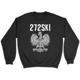 Scranton Pennsylvania - 272 Area Code - Crewneck Sweatshirt / Black / S - Polish Shirt Store