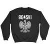 804SKI Virginia Polish Pride - Crewneck Sweatshirt / Black / S - Polish Shirt Store