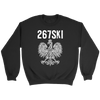 Philadelphia Pennsylvania Polish Pride - Crewneck Sweatshirt / Black / S - Polish Shirt Store