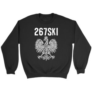 Pennsylvania Polish Pride - 267 Area Code - Crewneck Sweatshirt / Black / S - Polish Shirt Store