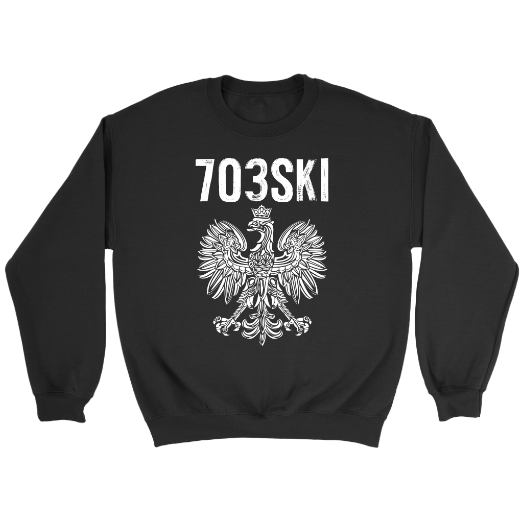 703SKI Virginia Polish Pride - Crewneck Sweatshirt / Black / S - Polish Shirt Store