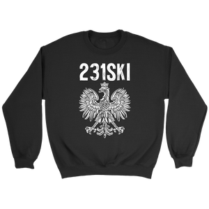 Michigan Polish Pride - 231 Area Code - Crewneck Sweatshirt / Black / S - Polish Shirt Store