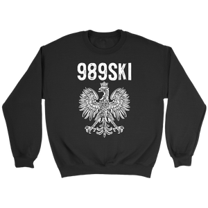 989SKI Saginaw Michigan, Polish Pride - Crewneck Sweatshirt / Black / S - Polish Shirt Store