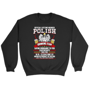 Polish Drinking Team Saying Dobranoc To You Lightweights -  - Polish Shirt Store
