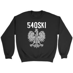 540SKI Virginia Polish Pride - Crewneck Sweatshirt / Black / S - Polish Shirt Store