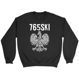 765SKI Indiana Polish Pride - Crewneck Sweatshirt / Black / S - Polish Shirt Store