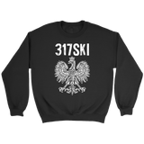 317SKI Indiana Polish Pride - Crewneck Sweatshirt / Black / S - Polish Shirt Store