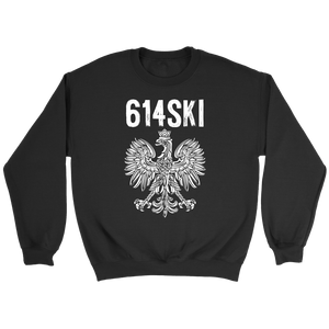 Columbus Ohio - 614 Area Code - Polish Pride - Crewneck Sweatshirt / Black / S - Polish Shirt Store
