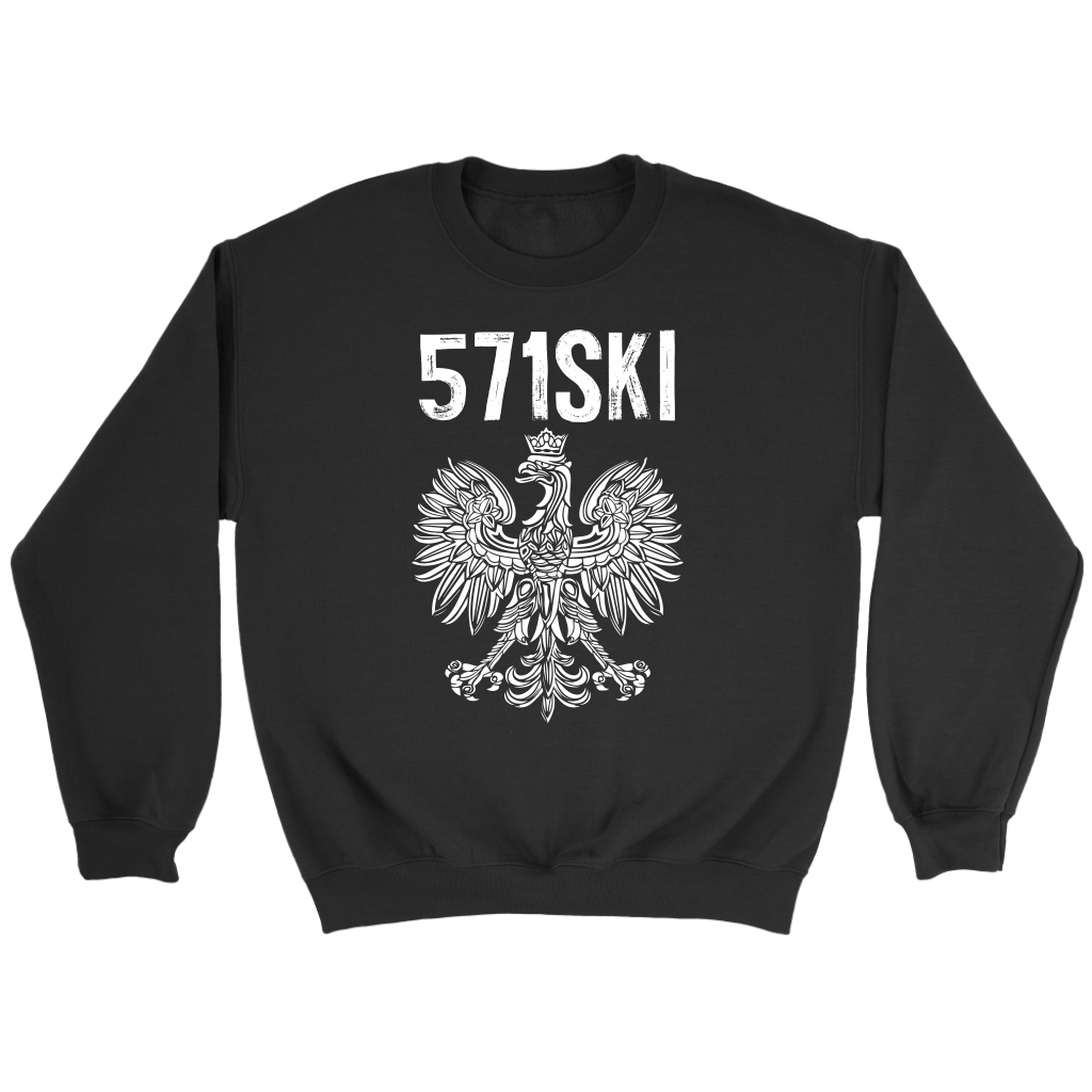 571SKI Virginia Polish Pride - Crewneck Sweatshirt / Black / S - Polish Shirt Store