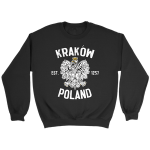 Krakow Poland - Crewneck Sweatshirt / Black / S - Polish Shirt Store