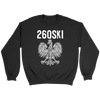 Indiana Polish Pride - 260 Area Code - Crewneck Sweatshirt / Black / S - Polish Shirt Store