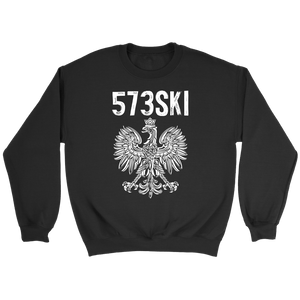 573SKI Missouri Polish Pride - Crewneck Sweatshirt / Black / S - Polish Shirt Store