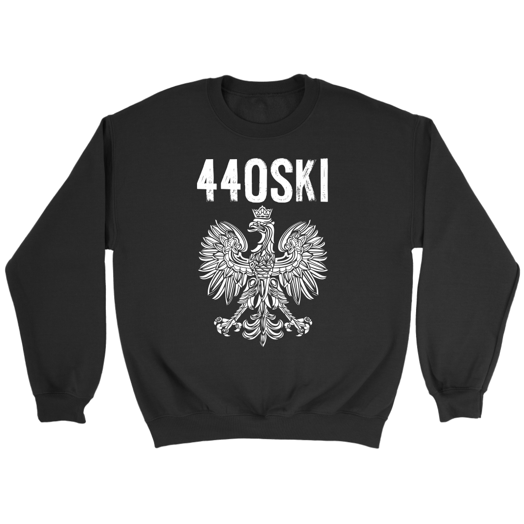 Parma Ohio - 440 Area Code - Polish Pride - Crewneck Sweatshirt / Black / S - Polish Shirt Store