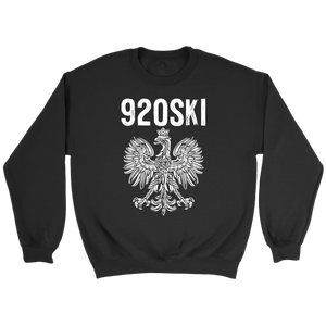 920SKI Wisconsin Polish Pride - Crewneck Sweatshirt / Black / S - Polish Shirt Store