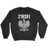 Minnesota - 218 Area Code - 218SKI - Crewneck Sweatshirt / Black / S - Polish Shirt Store