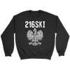 Cleveland Ohio - 216 Area Code - 216SKI - Crewneck Sweatshirt / Black / S - Polish Shirt Store