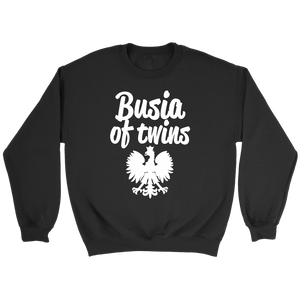 Busia of Twins Gift - Crewneck Sweatshirt / Black / S - Polish Shirt Store