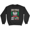 IRISKI Polish Irish Mix - Crewneck Sweatshirt / Black / S - Polish Shirt Store