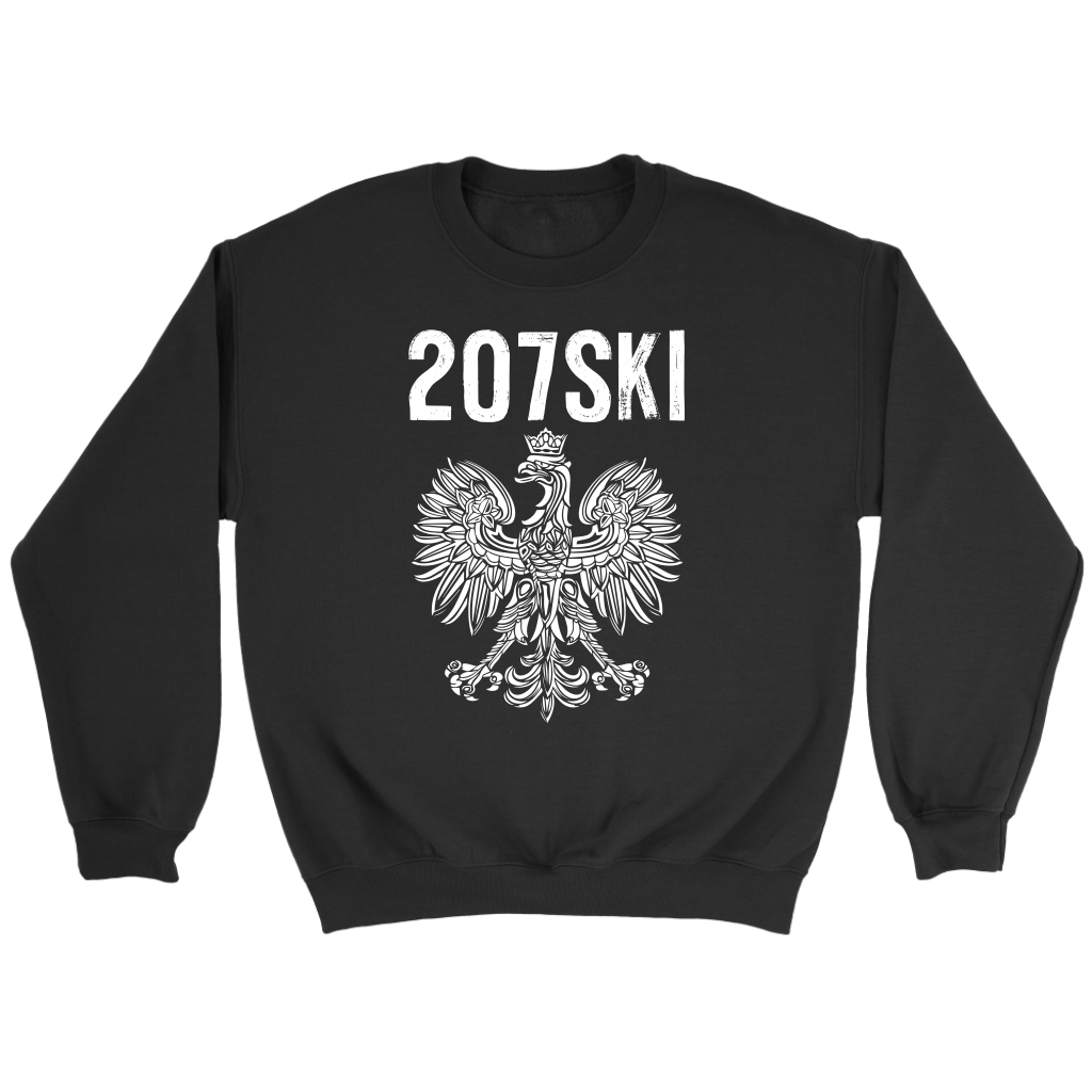 Maine - 207 Area Code - 207SKI - Crewneck Sweatshirt / Black / S - Polish Shirt Store