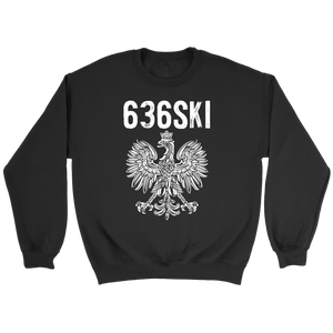 636SKI Missouri Polish Pride - Crewneck Sweatshirt / Black / S - Polish Shirt Store