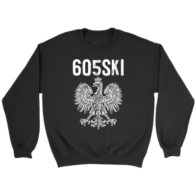 605SKI South Dakota Polish Pride - Crewneck Sweatshirt / Black / S - Polish Shirt Store