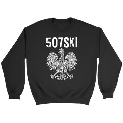 507SKI Minnesota Polish Pride - Crewneck Sweatshirt / Black / S - Polish Shirt Store