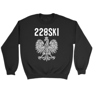 Mississippi Polish Pride - 228 Area Code - Crewneck Sweatshirt / Black / S - Polish Shirt Store