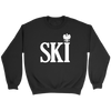 Polish Surnames Ski - Crewneck Sweatshirt / Black / S - Polish Shirt Store
