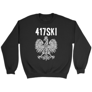 417SKI Missouri Polish Pride - Crewneck Sweatshirt / Black / S - Polish Shirt Store