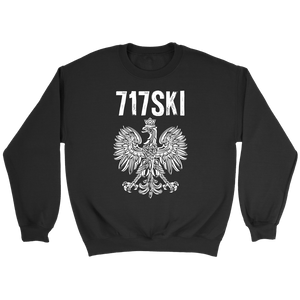 717SKI Pennsylvania Polish Pride - Crewneck Sweatshirt / Black / S - Polish Shirt Store