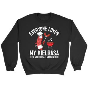 Everyone Loves My Kielbasa - Kielbasa Festival - Crewneck Sweatshirt / Black / S - Polish Shirt Store